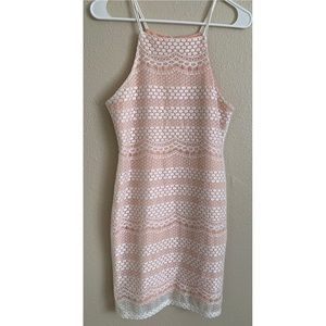Salmon color with white dress